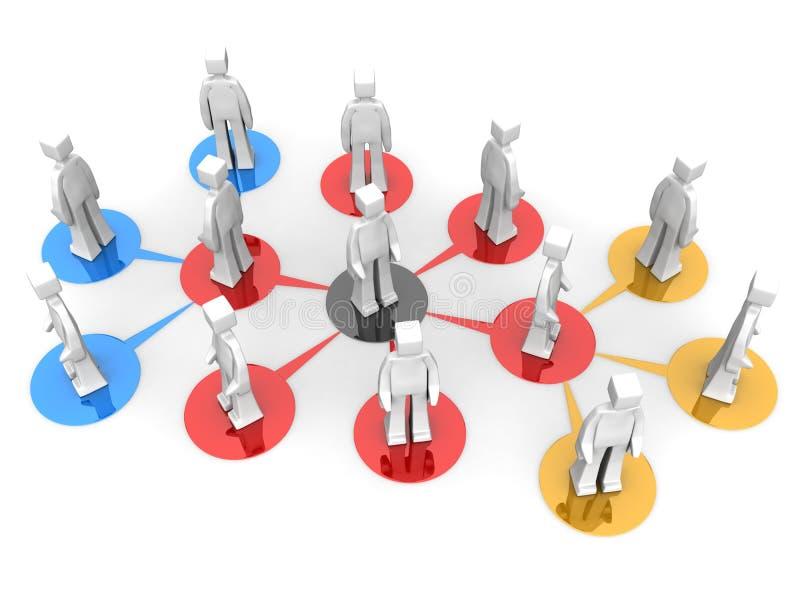 сеть уровня принципиальной схемы дела multi иллюстрация вектора