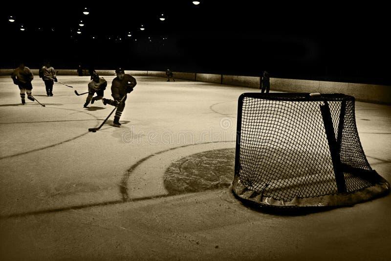 сеть хоккея стоковое фото