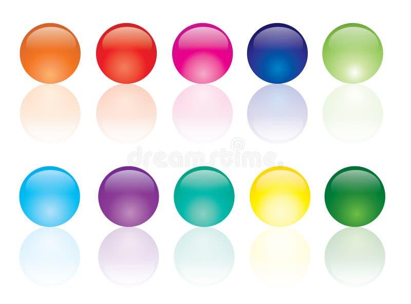 сеть цвета кнопок иллюстрация штока