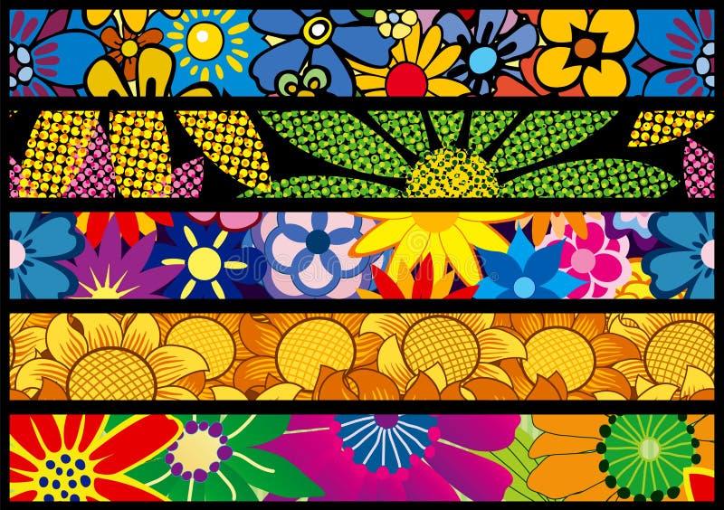 сеть цветка знамен иллюстрация штока