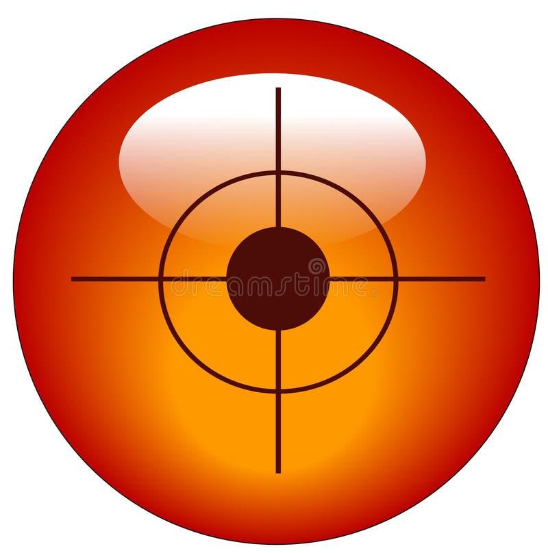 сеть цели иконы кнопки иллюстрация штока