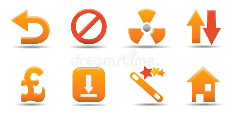 сеть части 8 икон установленная бесплатная иллюстрация