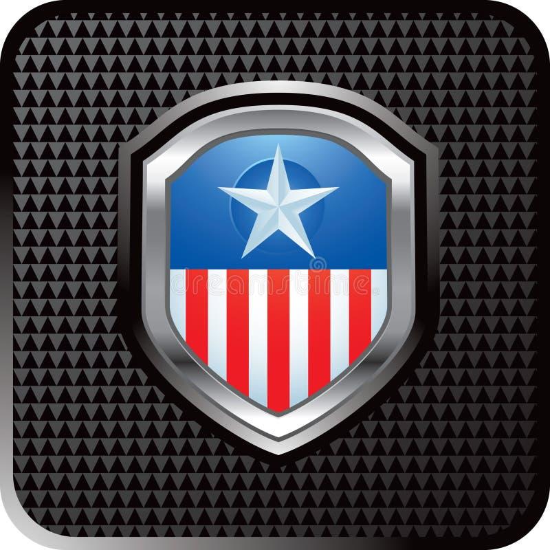 сеть черной иконы кнопки checkered патриотическая иллюстрация вектора