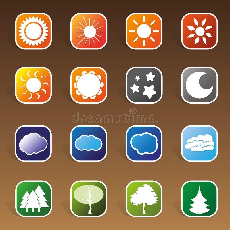 сеть 16 икон элементов конструкции лоснистая бесплатная иллюстрация