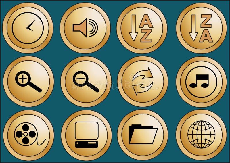 сеть 2 кнопок стоковые фото