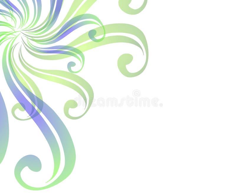 сеть 2 свирлей страницы предпосылки иллюстрация вектора