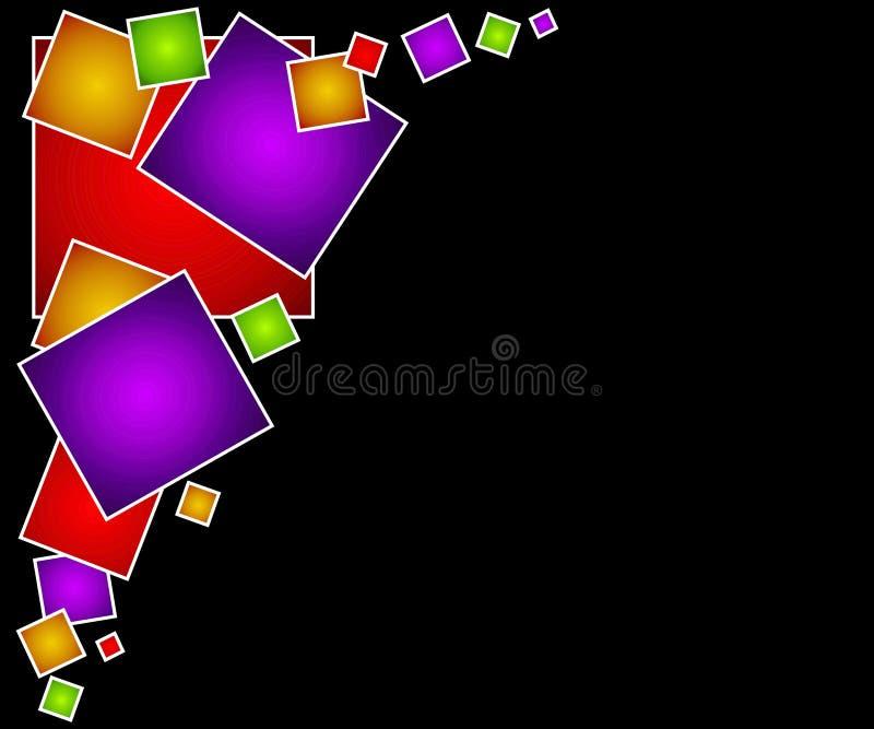 сеть 3 квадратов страницы предпосылки иллюстрация вектора