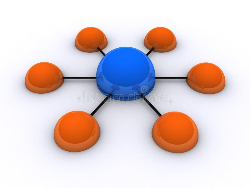 сеть 3d бесплатная иллюстрация