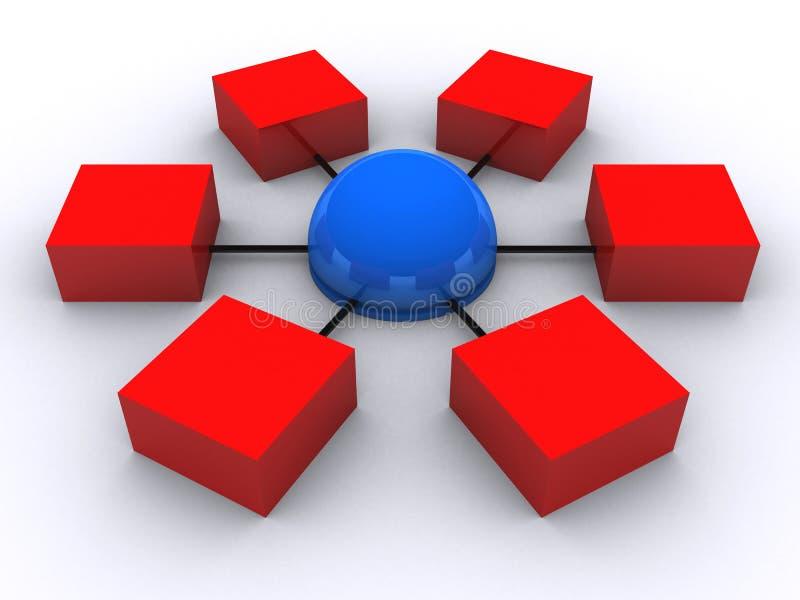 сеть 3d иллюстрация вектора