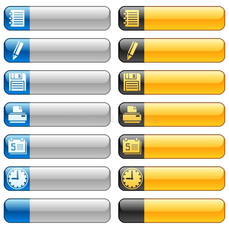 сеть 5 икон кнопок знамени иллюстрация вектора