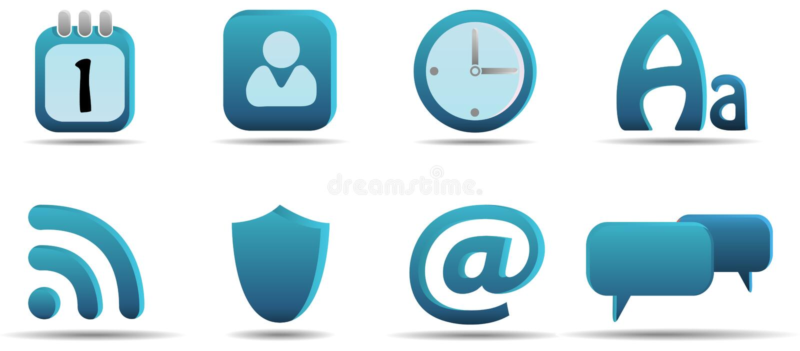 сеть 6 серий иконы aqua установленная