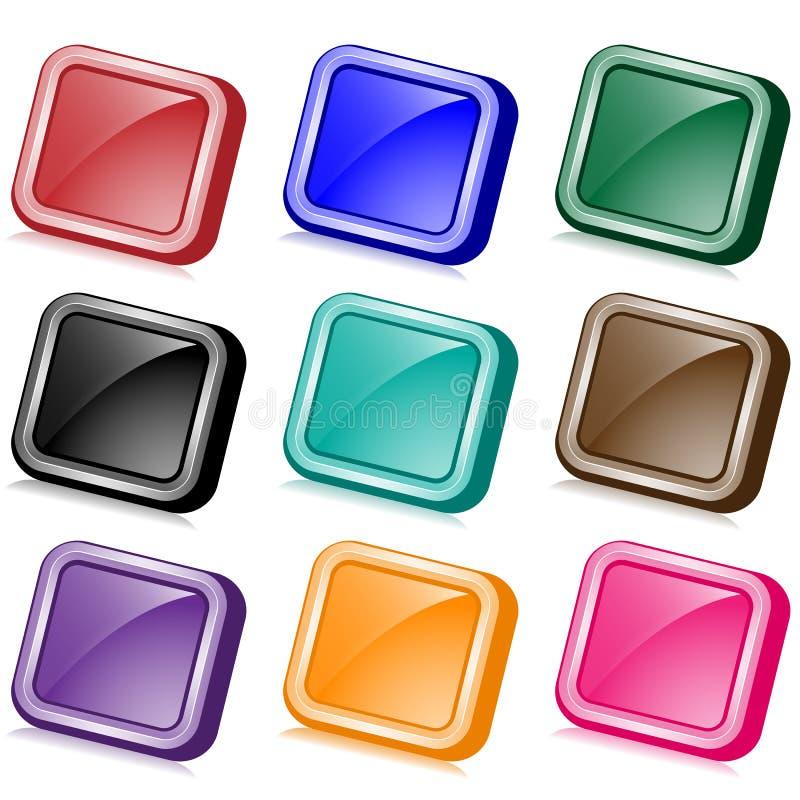 сеть angled кнопок квадратная иллюстрация вектора