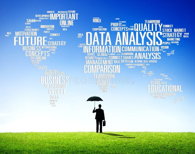 Сеть Concep данным по сравнения аналитика анализа данных стоковое изображение