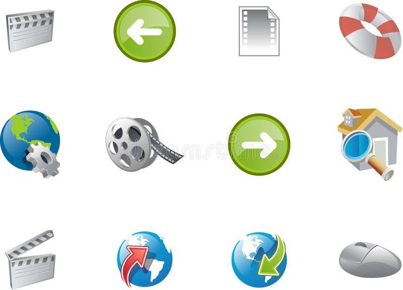 сеть varico 8 серий икон иллюстрация штока