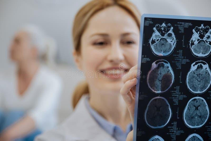 Селективный фокус развертки MRI стоковое изображение rf
