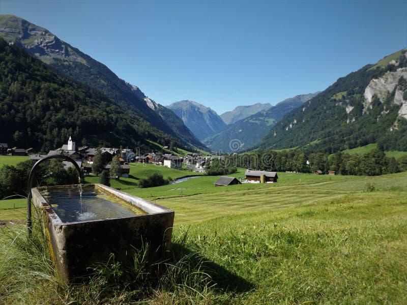 Село в альп стоковое фото