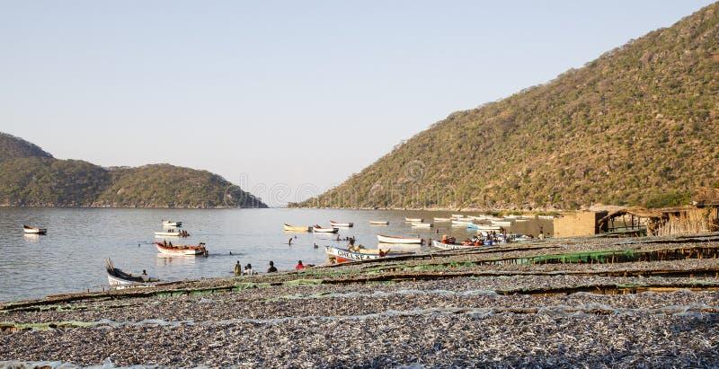 село Испании рыболовства Астурии cudillero стоковые изображения rf