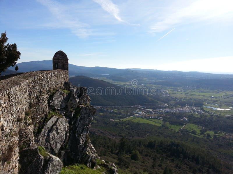 село Португалии pictoresque marvao замока alentejo малое стоковые фотографии rf