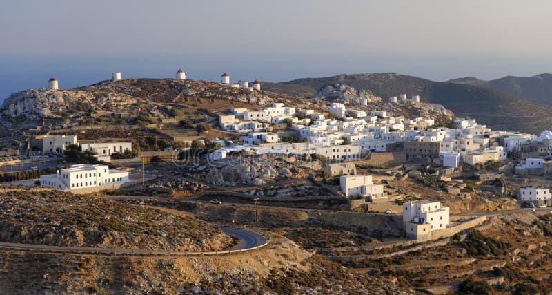 Село Chora на острове Amorgos стоковые фотографии rf