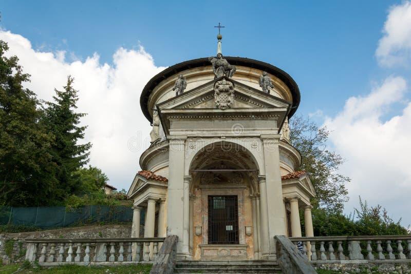 Седьмая часовня на di Варезе Sacro Monte Италия стоковое изображение rf
