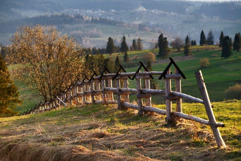 Сельская местность весны в горах Tatras стоковые фото