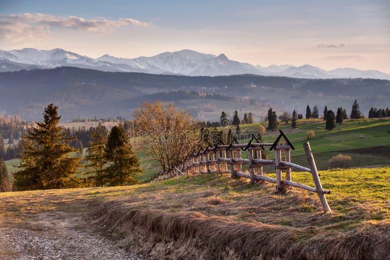 Сельская местность весны в горах Tatras стоковые изображения rf