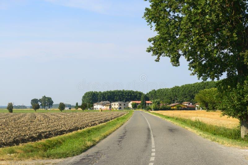 Сельская местность около Павии стоковые фото