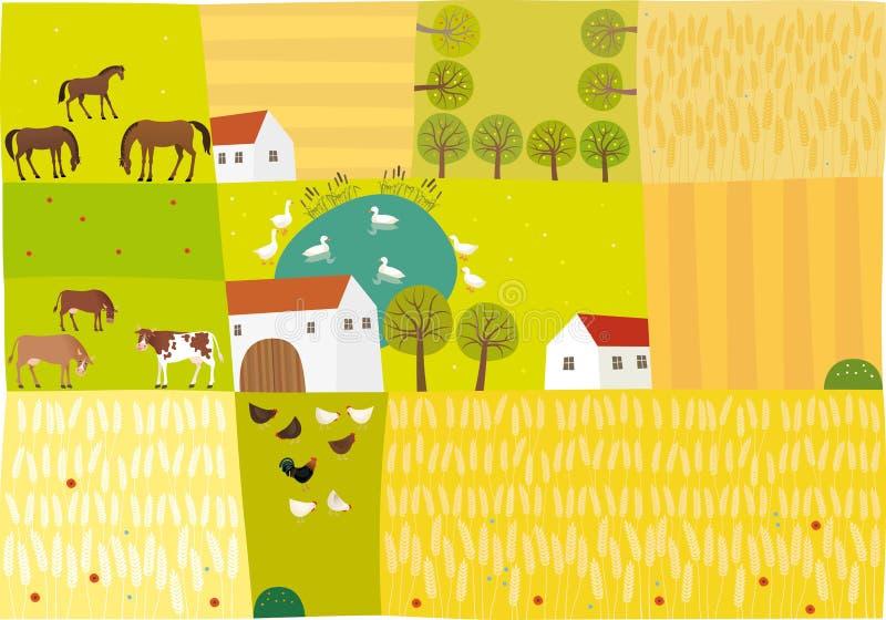 Сельская местность иллюстрация штока