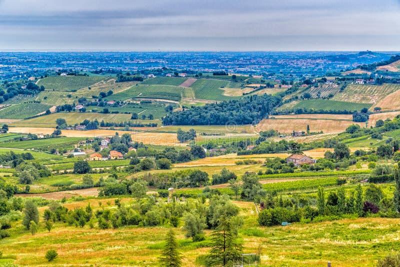 Сельская местность Romagna в Италии стоковые изображения rf