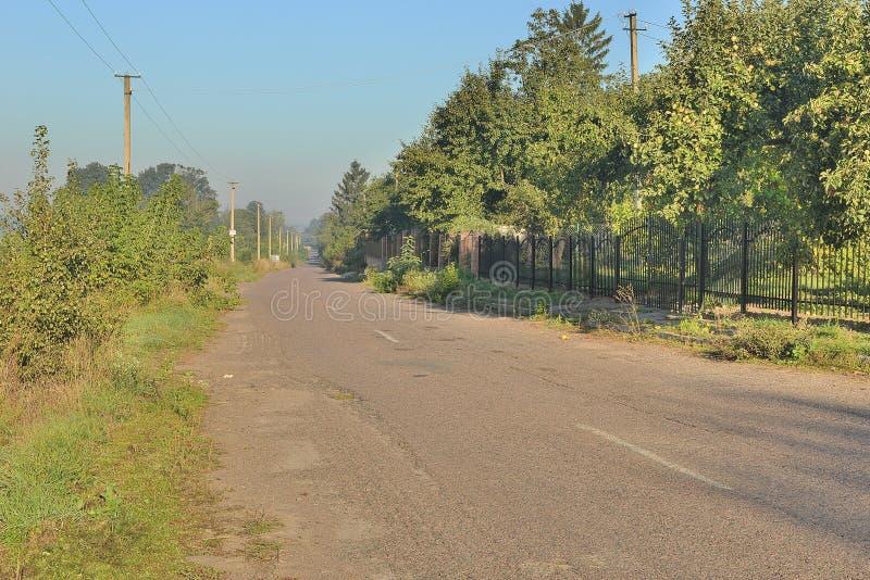 сельская улица стоковое изображение rf