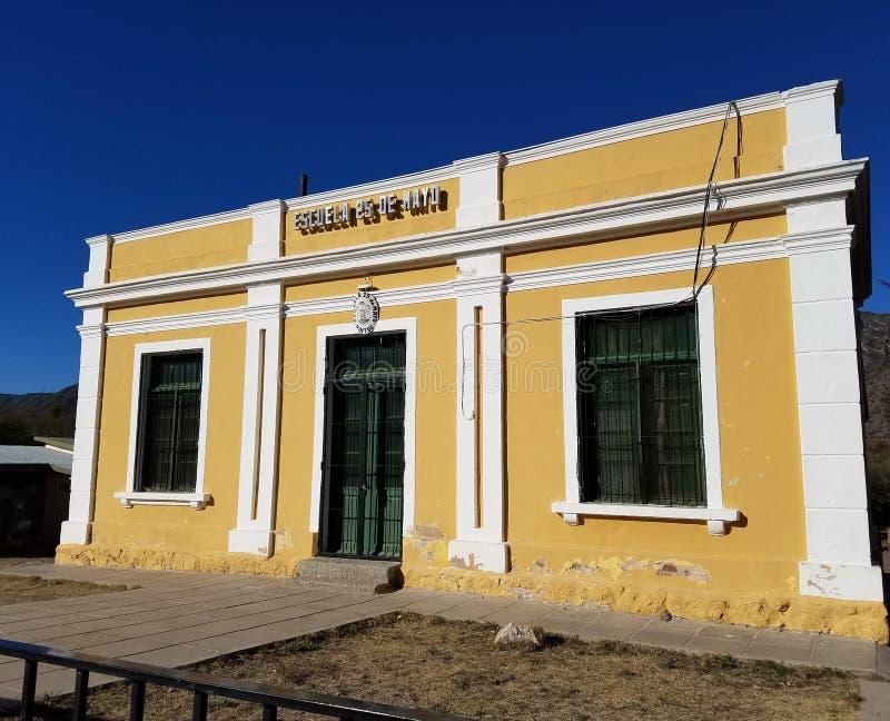 Сельская школа в Аргентине стоковая фотография rf