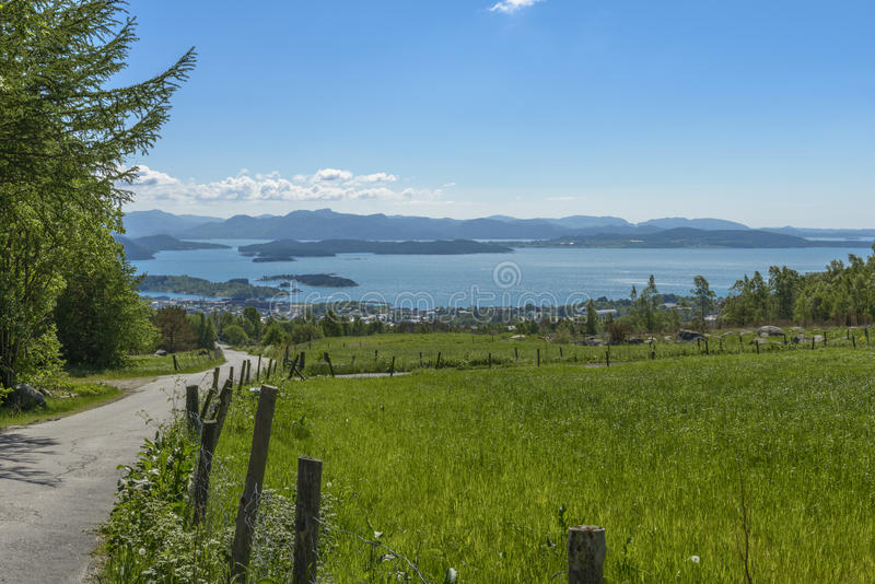 Сельский ландшафт в Rogaland, Норвегии стоковое изображение rf