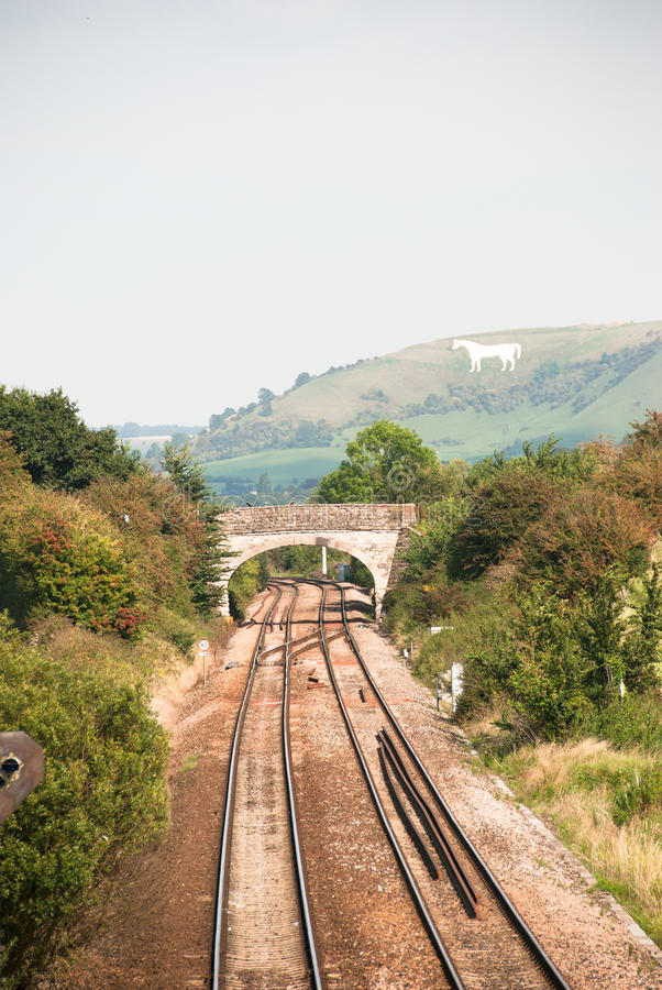 Сельский железнодорожный путь стоковое фото