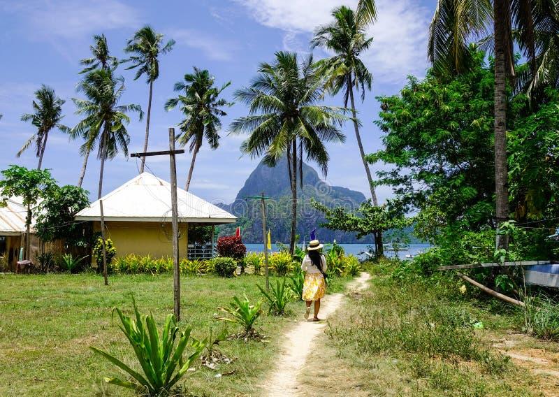 Сельский пейзаж в острове Palawan, Филиппинах стоковые изображения rf