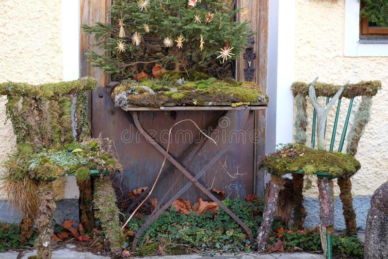 Сельское рождество в Hallstatt, Австрии стоковые фотографии rf