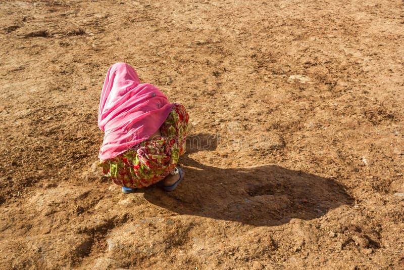 Сельское Swachh Bharat стоковая фотография rf