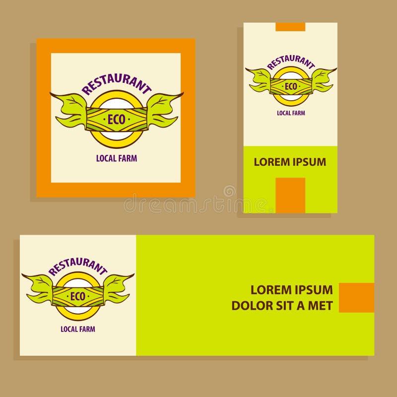 Сельскохозяйственные продукты логотипа вектора местные Логотип и карточка нарисованные рукой, b бесплатная иллюстрация