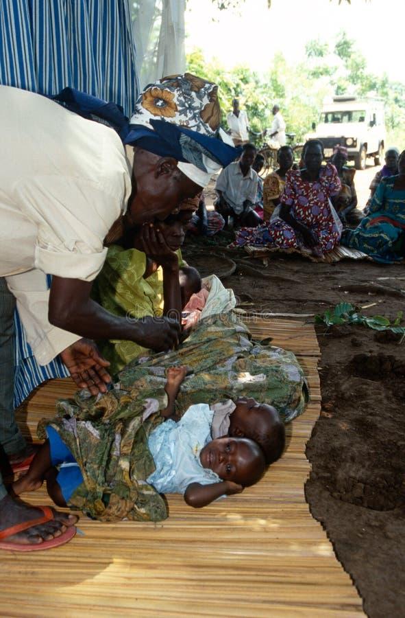 Сельчанин в Уганде. стоковое изображение rf