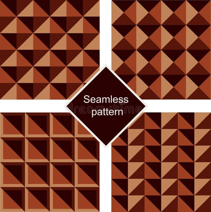 Сжатая безшовная картина Геометрические формы Комплект иллюстрация вектора