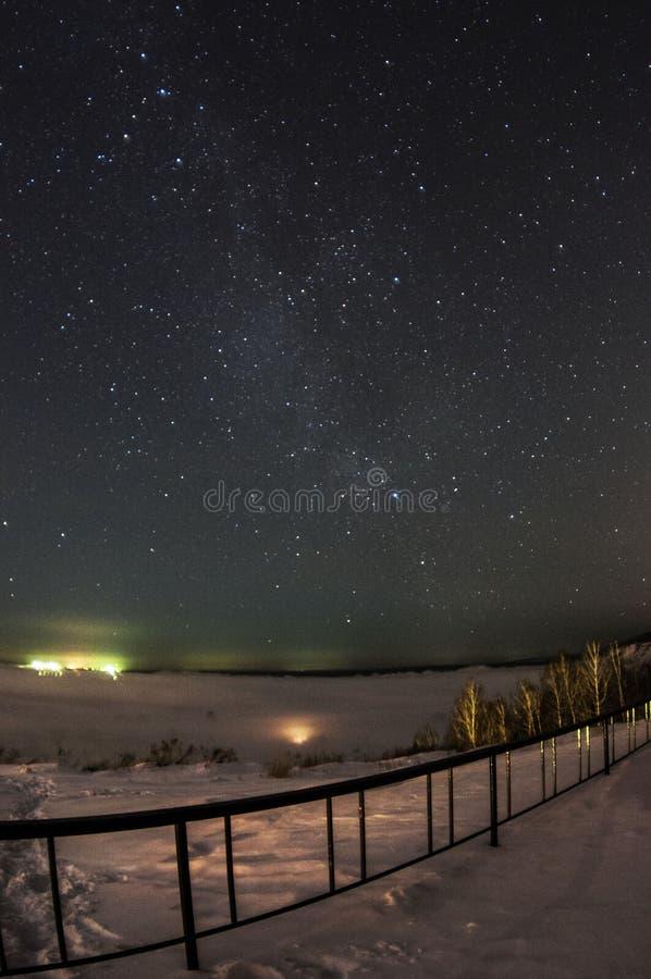 Сибирская ноча стоковые фотографии rf
