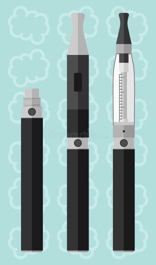Сигарета Vaping электронная с clearomizer стоковое фото rf