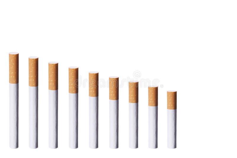 сигареты диаграммы стоковые изображения