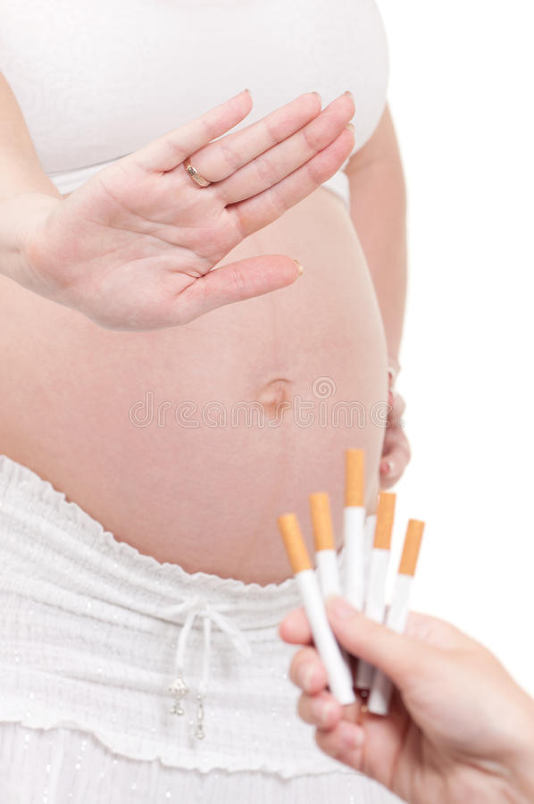 сигареты живота супоросые стоковое изображение rf