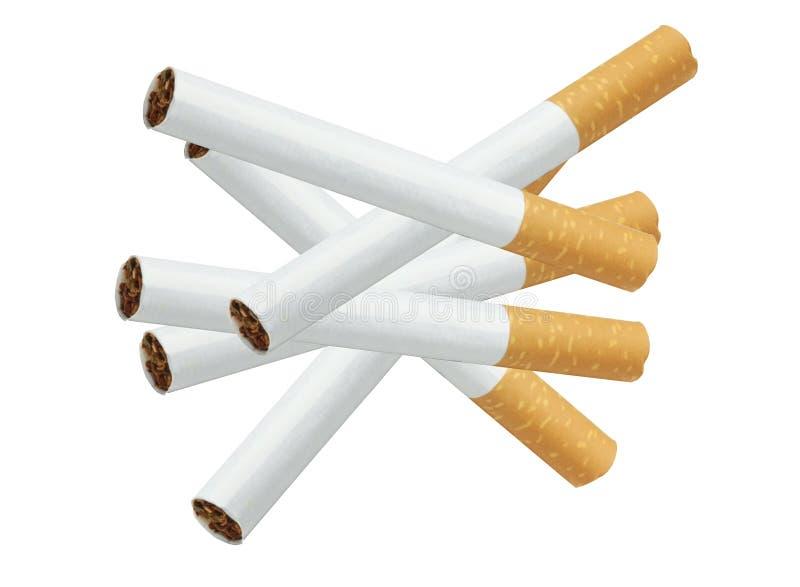 сигареты изолировали белизну стоковые фото