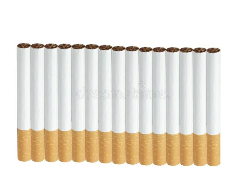 сигареты изолировали белизну стоковое фото