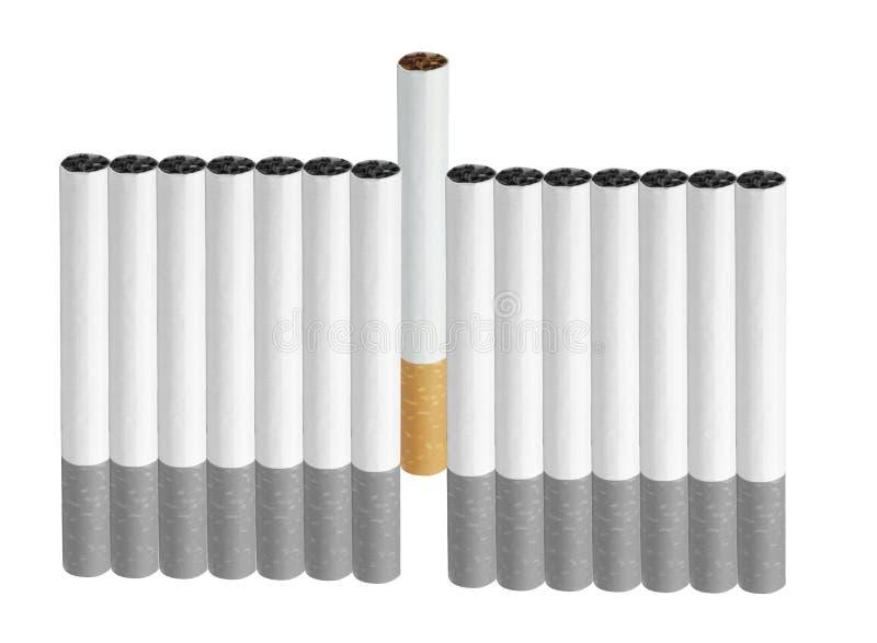 сигареты изолировали белизну стоковые изображения rf