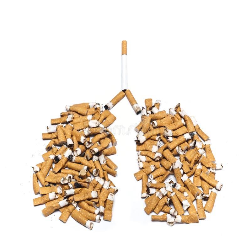 Сигареты опасности концепций для легких стоковая фотография rf