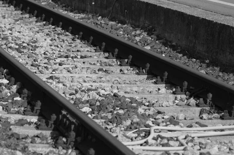 Сигнал на старой железной дороге от Франции стоковые изображения rf