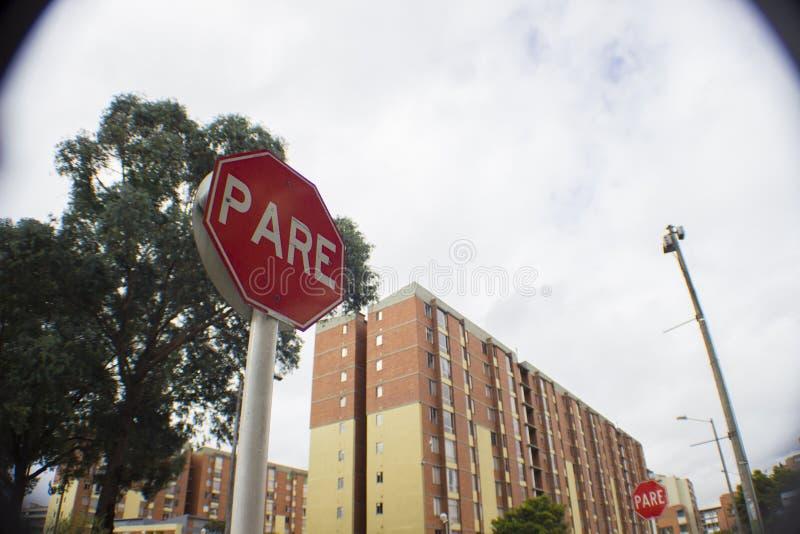 Сигнал стопа bogota Колумбия стоковая фотография