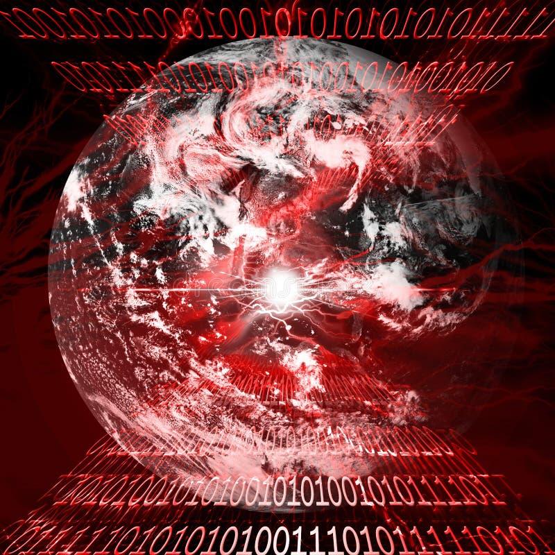 Сигнал тревога вируса иллюстрация вектора